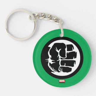 Hulk Retro Fist Icon Double-Sided Round Acrylic Keychain