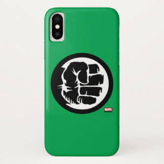 Hulk Retro Fist Icon iPhone X Case