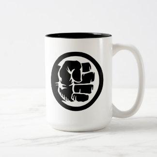 Hulk Retro Fist Icon Two-Tone Coffee Mug