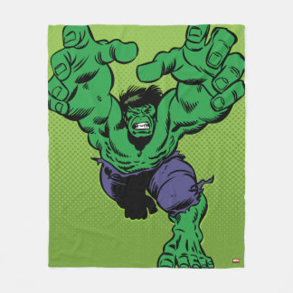 Hulk Retro Grab Fleece Blanket