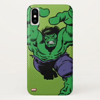 Hulk Retro Grab iPhone X Case