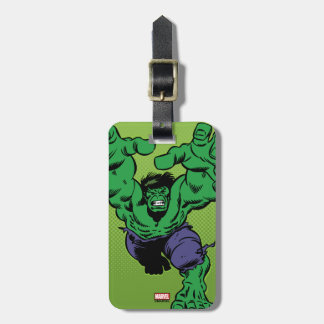 Hulk Retro Grab Luggage Tag