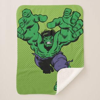 Hulk Retro Grab Sherpa Blanket