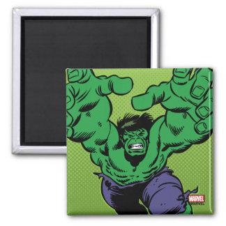 Hulk Retro Grab Square Magnet