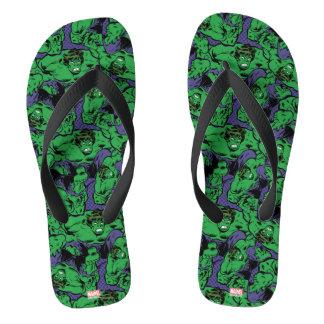 Hulk Retro Jump Flip Flops