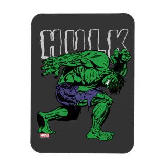 Hulk Retro Lift Rectangular Photo Magnet