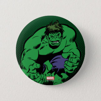 Hulk Retro Stomp 2 Inch Round Button