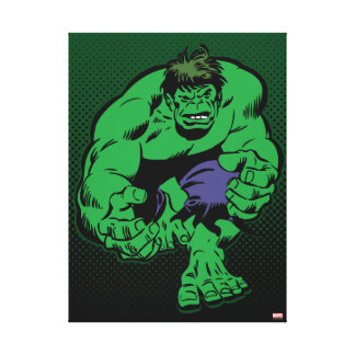 Hulk Retro Stomp Canvas Print