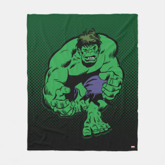 Hulk Retro Stomp Fleece Blanket