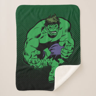 Hulk Retro Stomp Sherpa Blanket