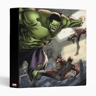 Hulk Smashing His Enemies 3 Ring Binders