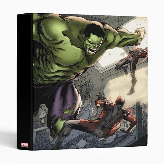 Hulk Smashing His Enemies 3 Ring Binders