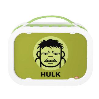 Hulk Stylized Line Art Icon Lunchboxes