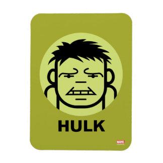 Hulk Stylized Line Art Icon Rectangular Photo Magnet