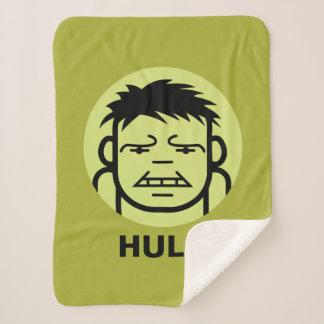 Hulk Stylized Line Art Icon Sherpa Blanket