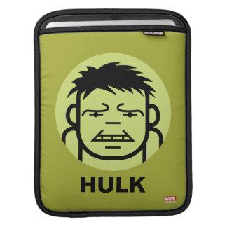 Hulk Stylized Line Art Icon Sleeves For iPads