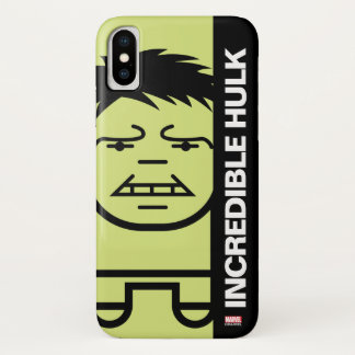 Hulk Stylized Line Art iPhone X Case