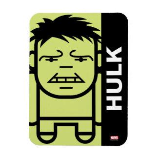 Hulk Stylized Line Art Rectangular Photo Magnet