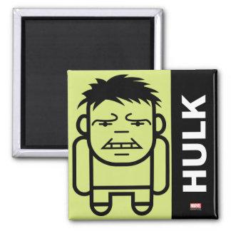 Hulk Stylized Line Art Square Magnet