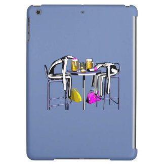 Hull Blows of blue bar woman 4 iPad iPad Air Cover