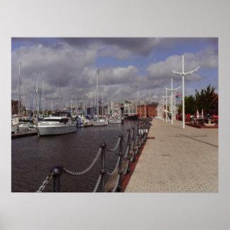 Hull City Marina Poster Print