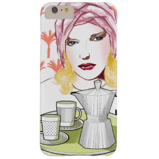 hull Iphone 6+, the blonde with the coffee Barely There iPhone 6 Plus Case