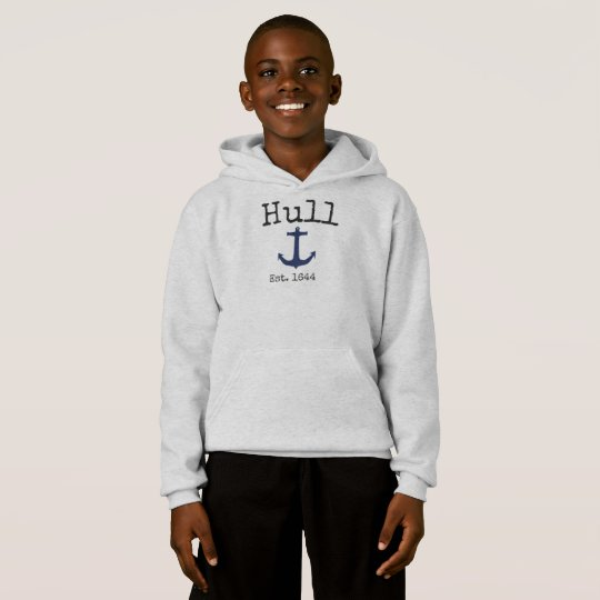 Hull Massachusetts grey sweatshirt for boys