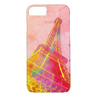 Hull Paris pink Eiffel Tower pop art iPhone 8/7 Case