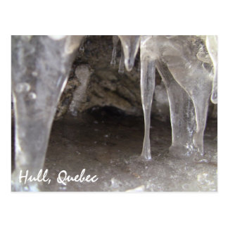 Hull Quebec Gritty Ice Caves Postcard