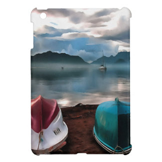 Hulls of Boats And Marmaris Winter Seascape Case For The iPad Mini