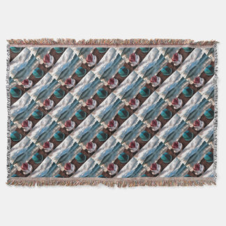 Hulls of Boats Marmaris Winter Seascape Throw Blanket