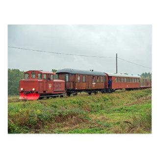 Hultsfred - Västervik narrow gauge railroad Postcard