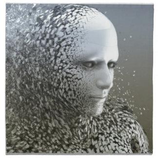 Human Abstract Art Napkin