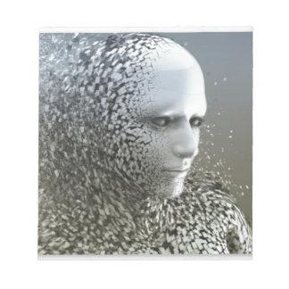Human Abstract Art Notepad