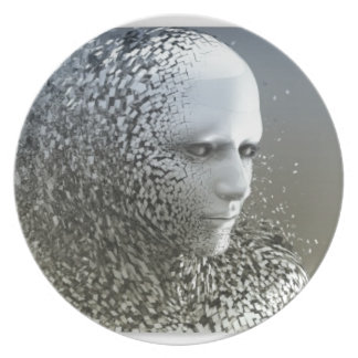 Human Abstract Art Plate