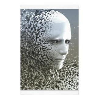 Human Abstract Art Stationery
