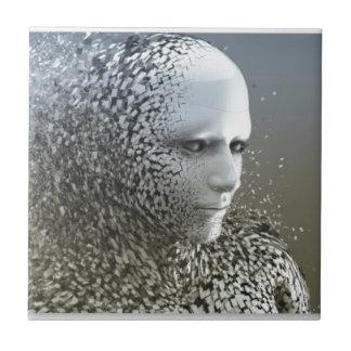 Human Abstract Art Tile