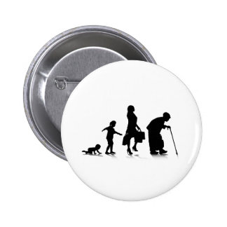 Human Aging_5 2 Inch Round Button