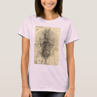 Human Anatomy, Female Torso by Leonardo da Vinci T-Shirt