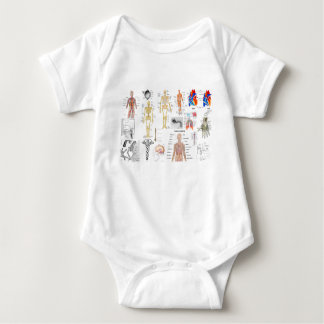 Human Anatomy Medical Diagrams full colored Baby Bodysuit