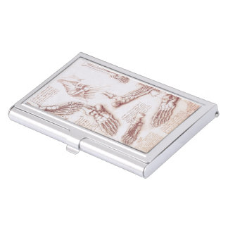 Human Anatomy Skeleton Foot Bones by da Vinci Business Card Holder