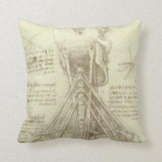 Human Anatomy Spinal Column by Leonardo da Vinci Pillows