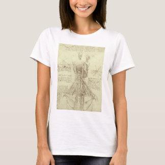 Human Anatomy Spinal Column by Leonardo da Vinci T-Shirt
