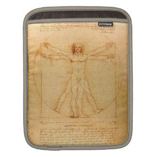 Human Anatomy, Vitruvian Man by Leonardo da Vinci iPad Sleeve