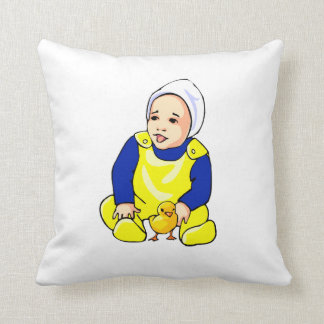 human baby chick blue sleeves.png pillow
