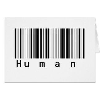 Human Barcode Really Scans! Card