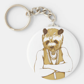 human bear with tongue keychain