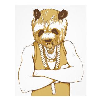 human bear with tongue letterhead