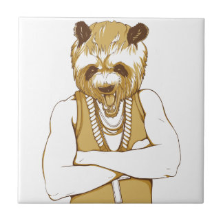human bear with tongue tile