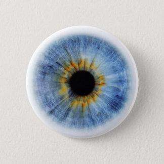 Human blue eyeball 2 inch round button